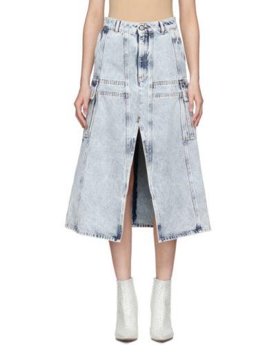 Джинсовая юбка карго пачка Mm6 Maison Margiela