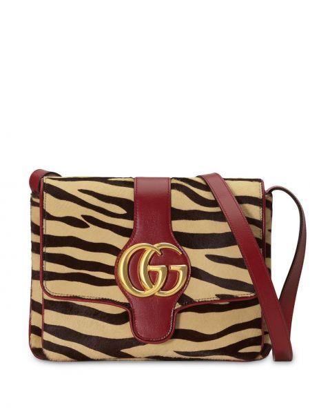 Кожаная желтая кожаная сумка Gucci