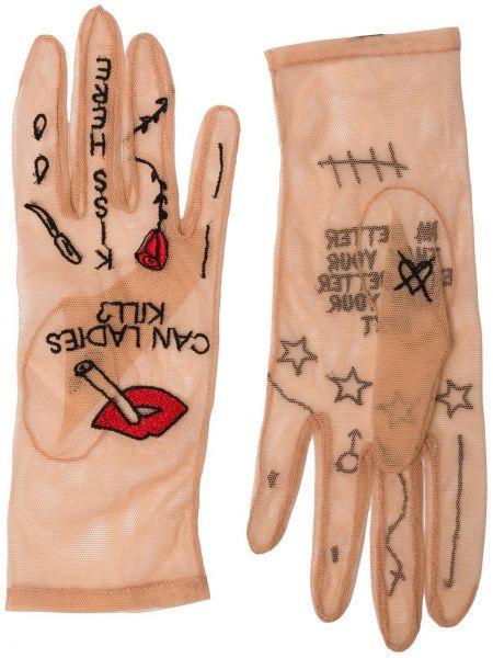 Rękawiczki z haftem tiulowe Tender And Dangerous