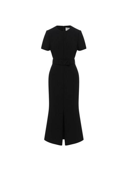 Миди итальянское платье из вискозы с декоративной отделкой Valentino