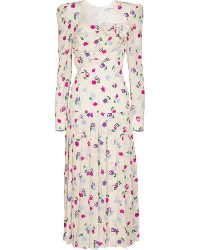 Шелковое белое платье миди винтажное Alessandra Rich