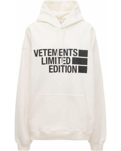 Хлопковое худи - белое Vetements