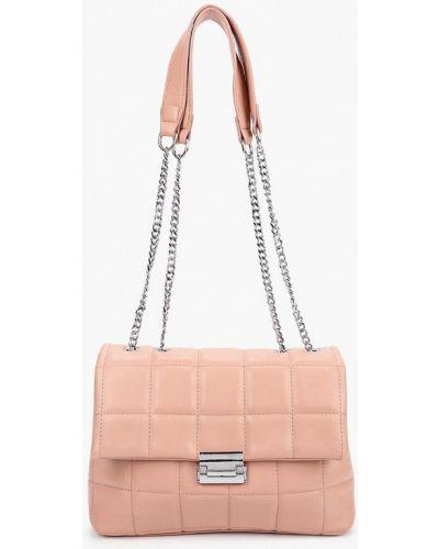 Розовая кожаная сумка с ручками Izabella