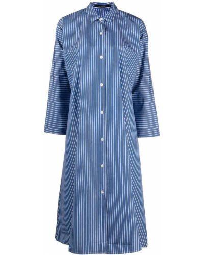 Расклешенное синее платье миди в полоску Sofie D'hoore