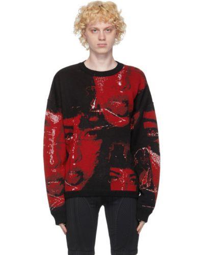 Czarny sweter z kołnierzem z mankietami z długimi rękawami Misbhv