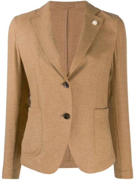 Удлиненный пиджак с карманами с воротником свободного кроя Lardini