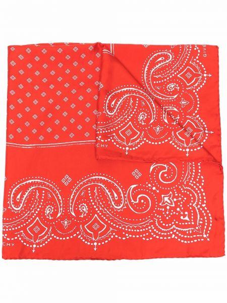 Красный платок с принтом Givenchy