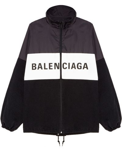 Куртка черная оверсайз Balenciaga