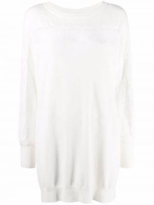 Платье макси с длинными рукавами - белое Twinset