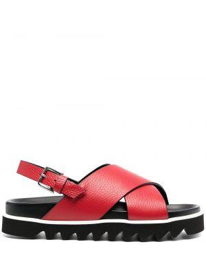 Красные с ремешком кожаные сандалии P.a.r.o.s.h.