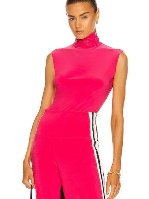 Różowy sweter bez rękawów Norma Kamali
