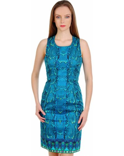 Платье весеннее синее Roberto Cavalli