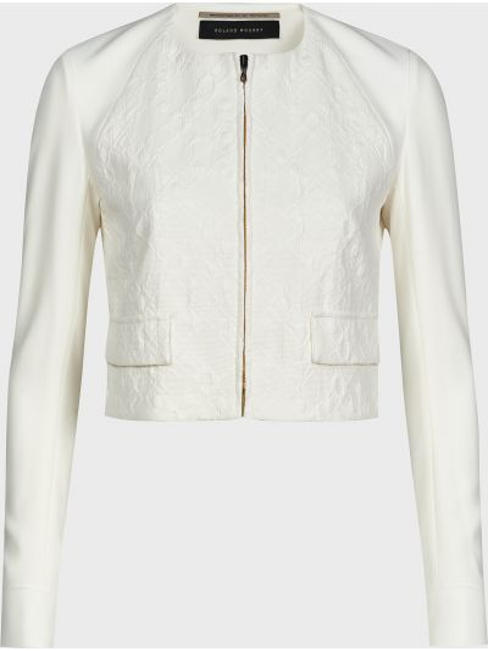 Хлопковый белый пиджак Roland Mouret