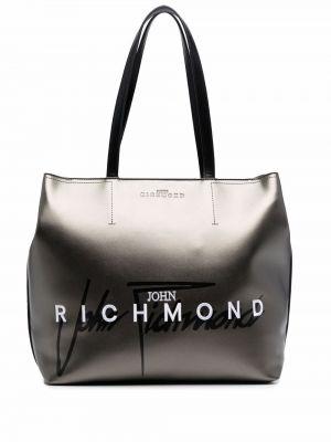 Сумка шоппер на молнии - черная John Richmond