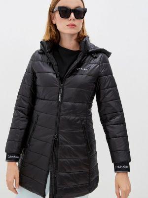 Черная утепленная куртка Calvin Klein