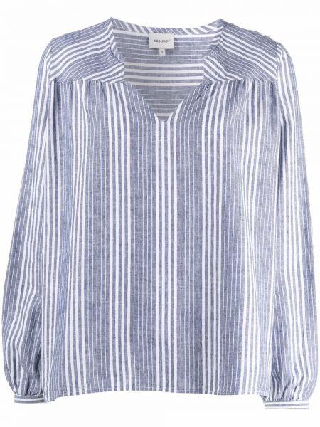 Хлопковая белая рубашка в полоску Woolrich