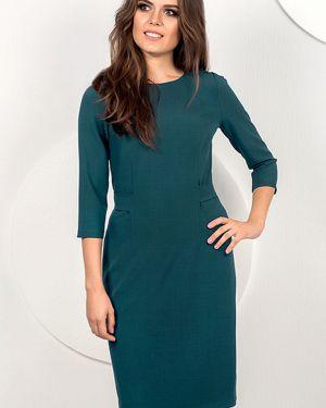 Платье с поясом из вискозы с кокеткой Modellos