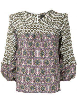 Bluzka z długimi rękawami z wiskozy z dekoltem w serek Nicole Miller