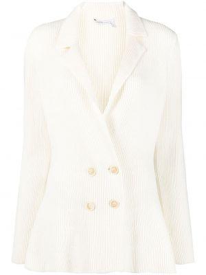 С рукавами белый удлиненный пиджак двубортный Agnona