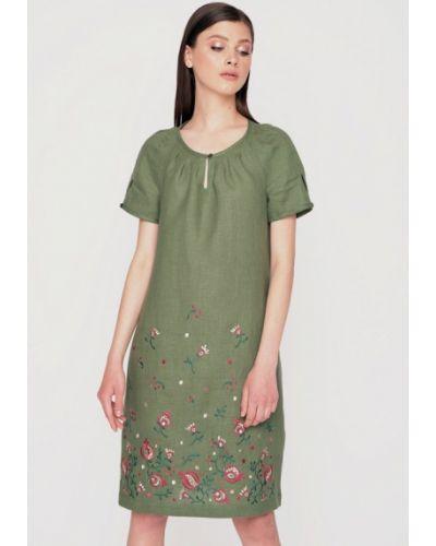 Платье мини весеннее зеленый Garmoniya