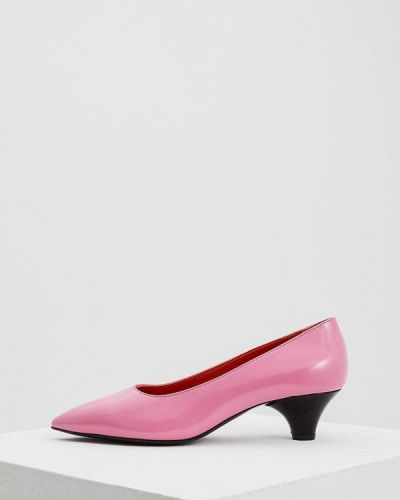 Розовые туфли для офиса Marni