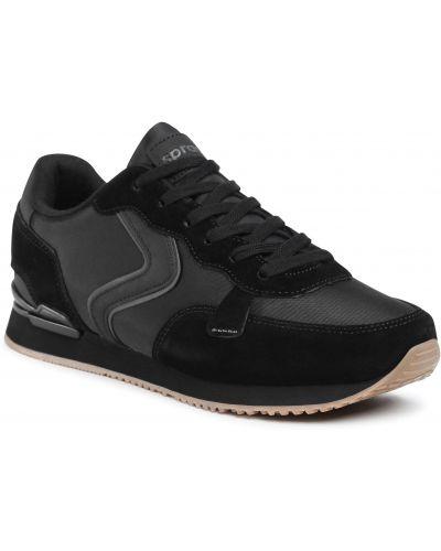 Кожаные кроссовки - черные Sprandi