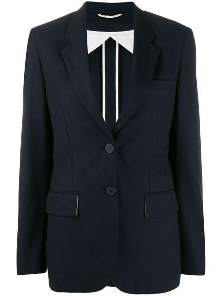 Синий пиджак с манжетами Maison Flaneur