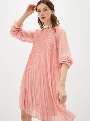 Прямое розовое платье А-силуэта Ichi