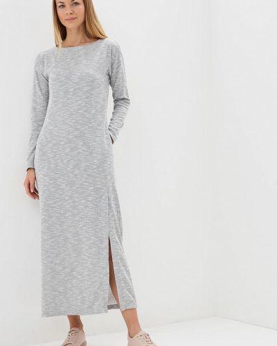 Платье серое осеннее Sitlly
