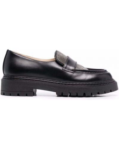 Черные кожаные туфли Fabiana Filippi