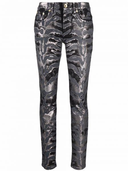 Зауженные классические брюки - черные Roberto Cavalli