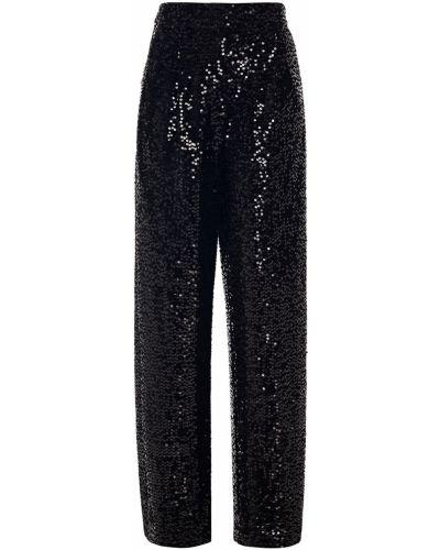 Бархатные черные брюки с карманами Derek Lam 10 Crosby