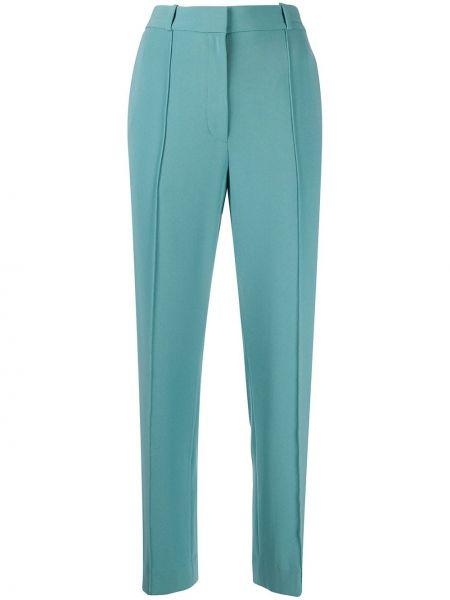 Синие укороченные брюки с потайной застежкой Dvf Diane Von Furstenberg