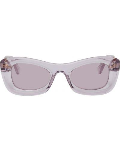 Okulary skorzane - fioletowe Bottega Veneta