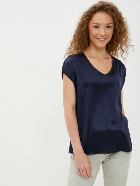 С рукавами синяя блузка с коротким рукавом Betty Barclay