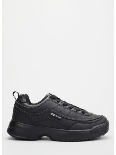 Кожаные кроссовки - черные Crosby