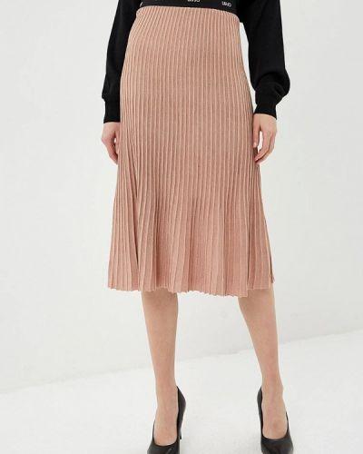 Плиссированная юбка бежевый Liu Jo