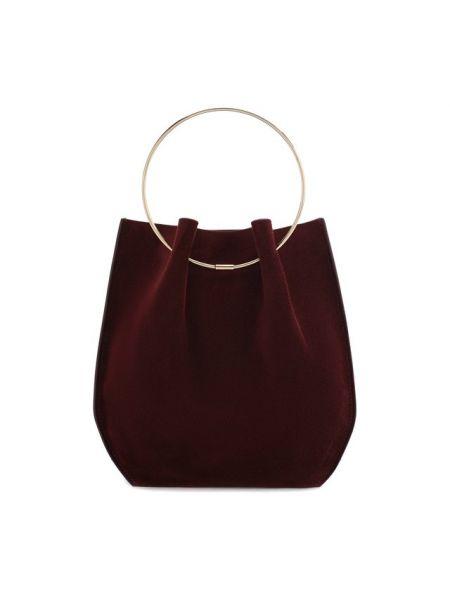 Кожаная красная маленькая сумка круглая The Row