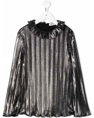 С рукавами блузка с круглым вырезом круглая Dondup Kids