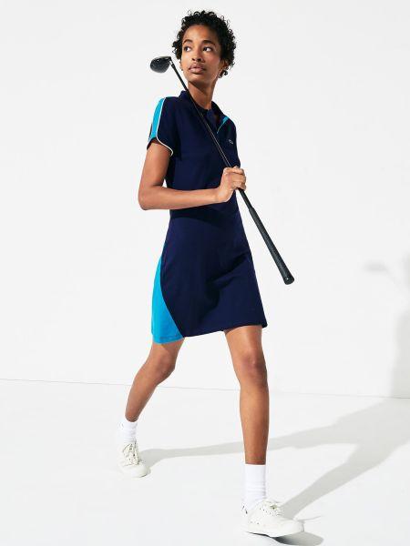 Платье рубашка - синее Lacoste