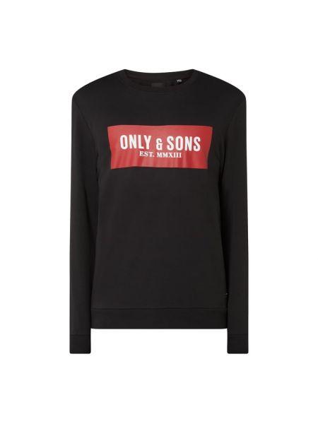 Bawełna bawełna czarny bluzka z dekoltem Only & Sons