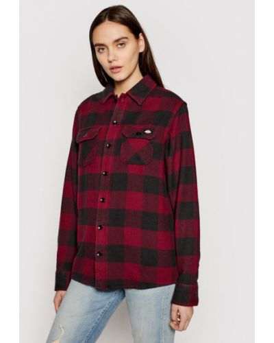 Koszula - bordowa Dickies