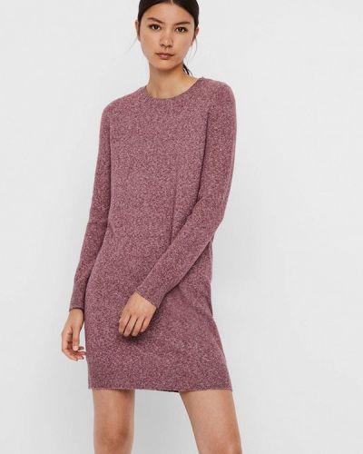 Фиолетовое вязаное платье Vero Moda