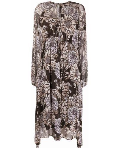 Платье макси длинное - серое Luisa Cerano