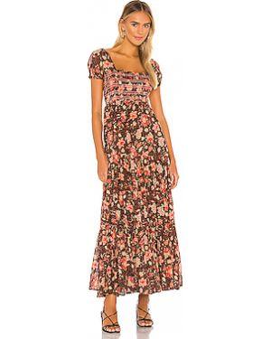 Платье миди с оборками Free People