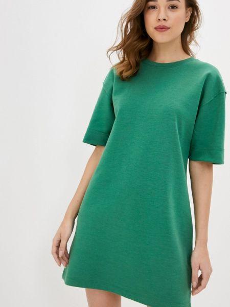 Платье футболка зеленый Sela