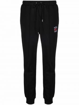 Прямые черные спортивные брюки с поясом Markus Lupfer