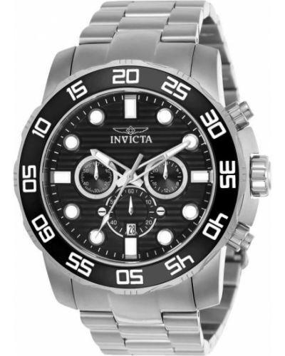 Со стрелками серебряные часы водонепроницаемые Invicta