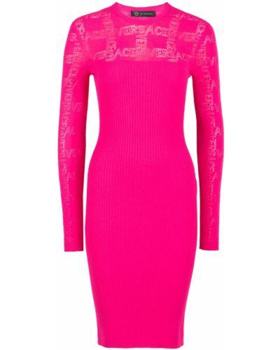 Повседневное платье розовое Versace