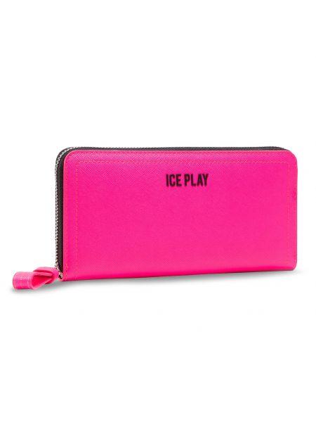 Różowy portfel oversize Ice Play